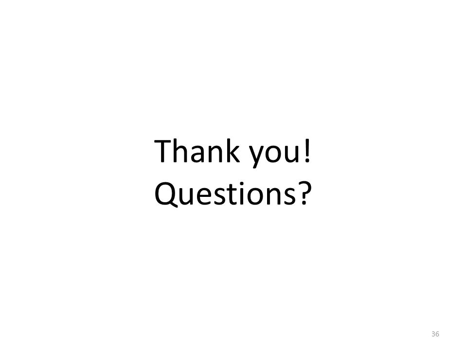 Thank you! Questions 36