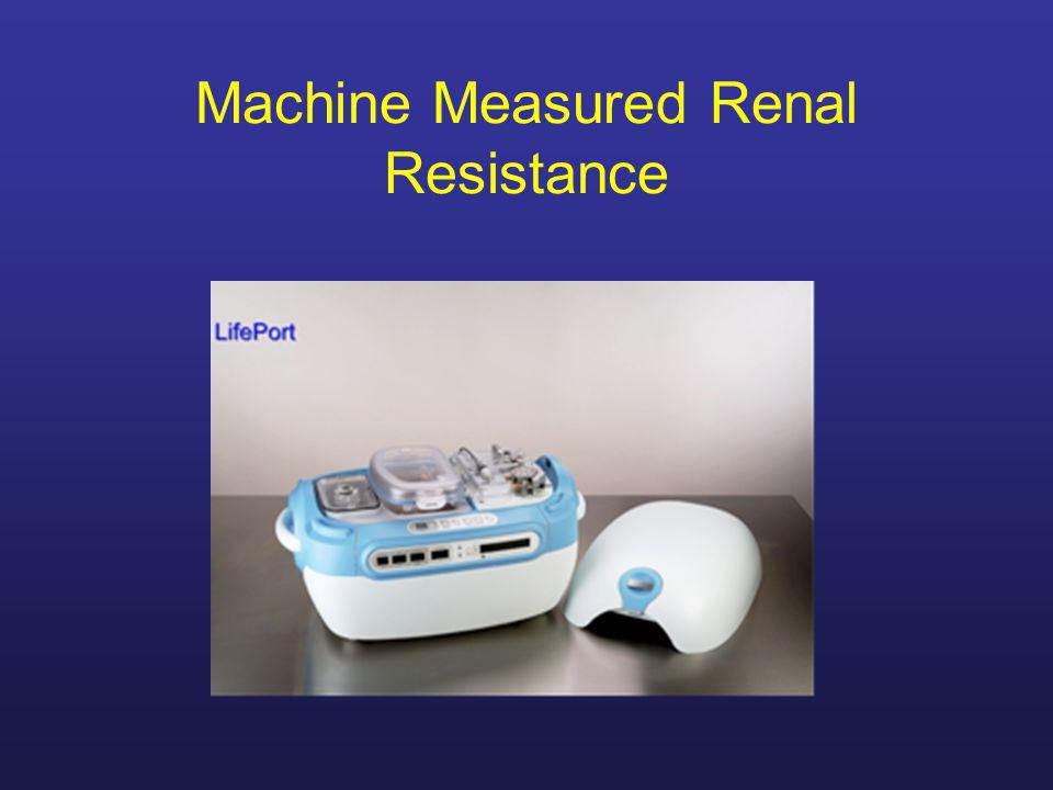 Machine Measured Renal Resistance
