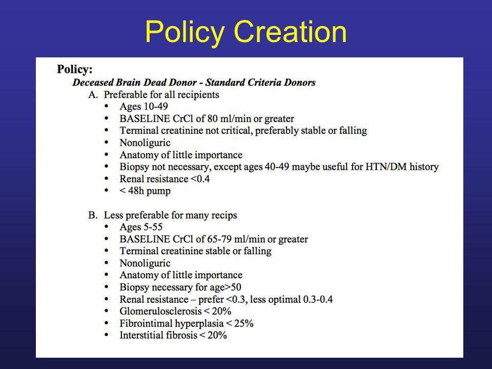 Policy Creation