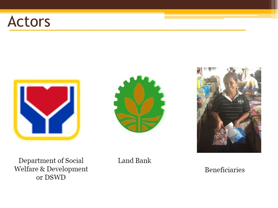 Actors Department of Social Welfare & Development or DSWD Land Bank Beneficiaries