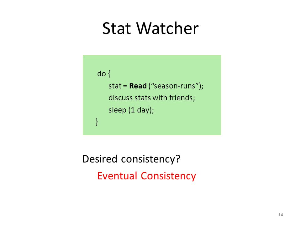 Stat Watcher Desired consistency.