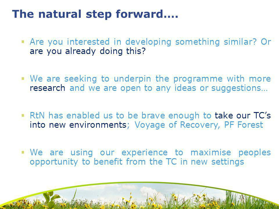 The natural step forward…. Are you interested in developing something similar.