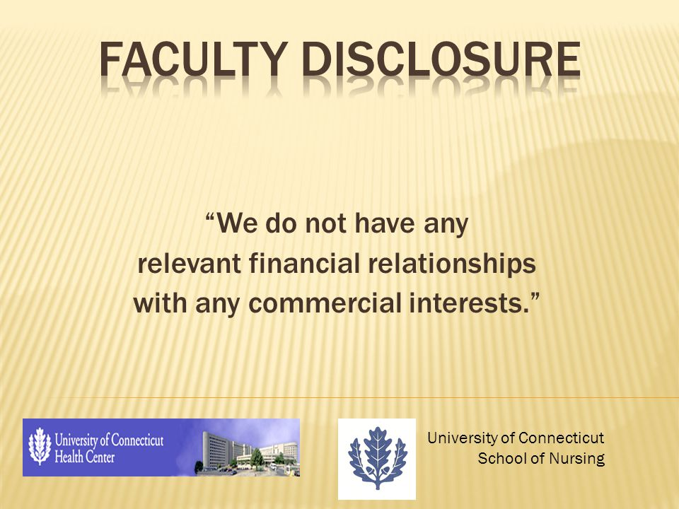 We do not have any relevant financial relationships with any commercial interests.