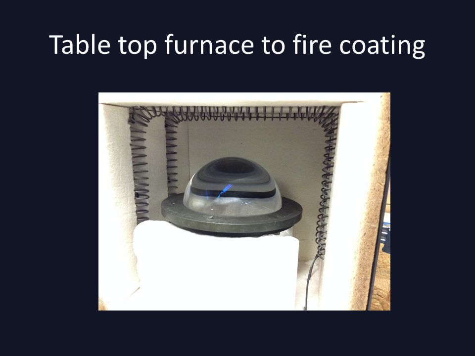 Table top furnace to fire coating