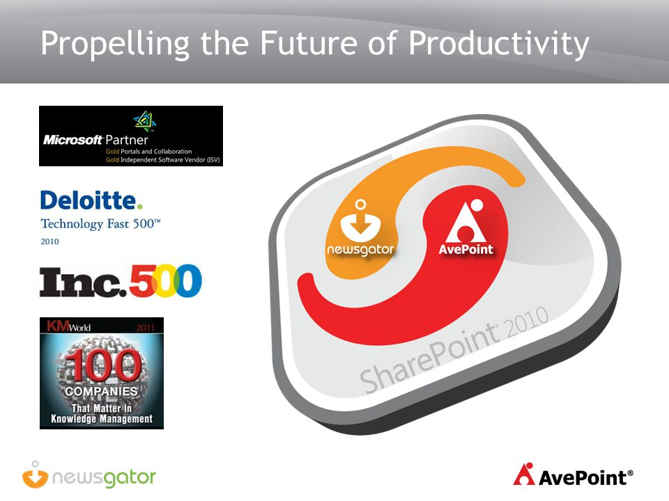 Propelling the Future of Productivity