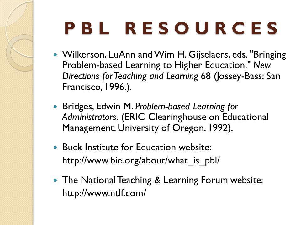 P B L R E S O U R C E S Wilkerson, LuAnn and Wim H.