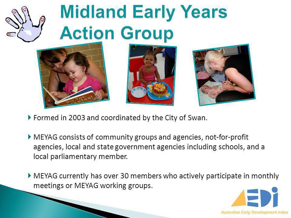 Formed in 2003 and coordinated by the City of Swan. MEYAG consists of community groups and agencies, not-for-profit agencies, local and state governme