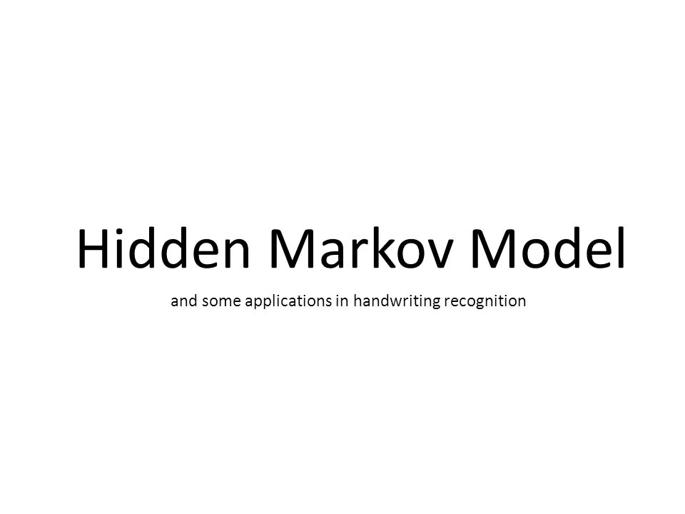 Example (Random Walk, some applications): First Order Markov Model -In economic, the random walk hypothesis is used to model shares prices and other factors.