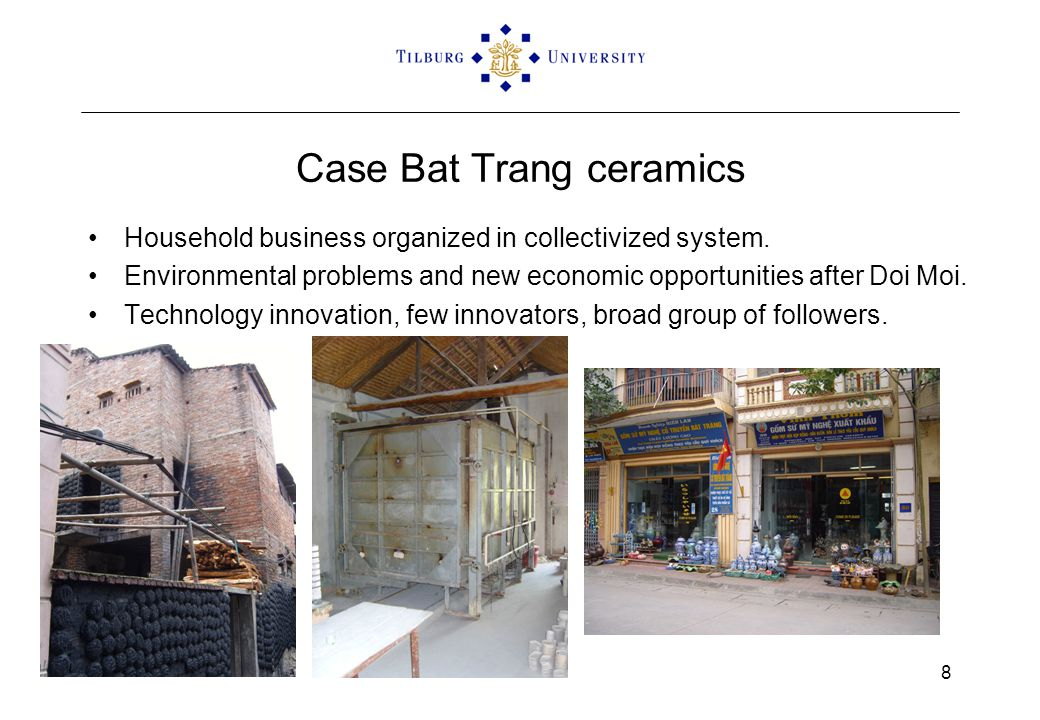 Case Bat Trang ceramics Household business organized in collectivized system. Environmental problems and new economic opportunities after Doi Moi. Tec