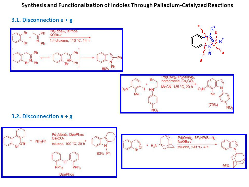 Synthesis and Functionalization of Indoles Through Palladium-Catalyzed Reactions 3.1.