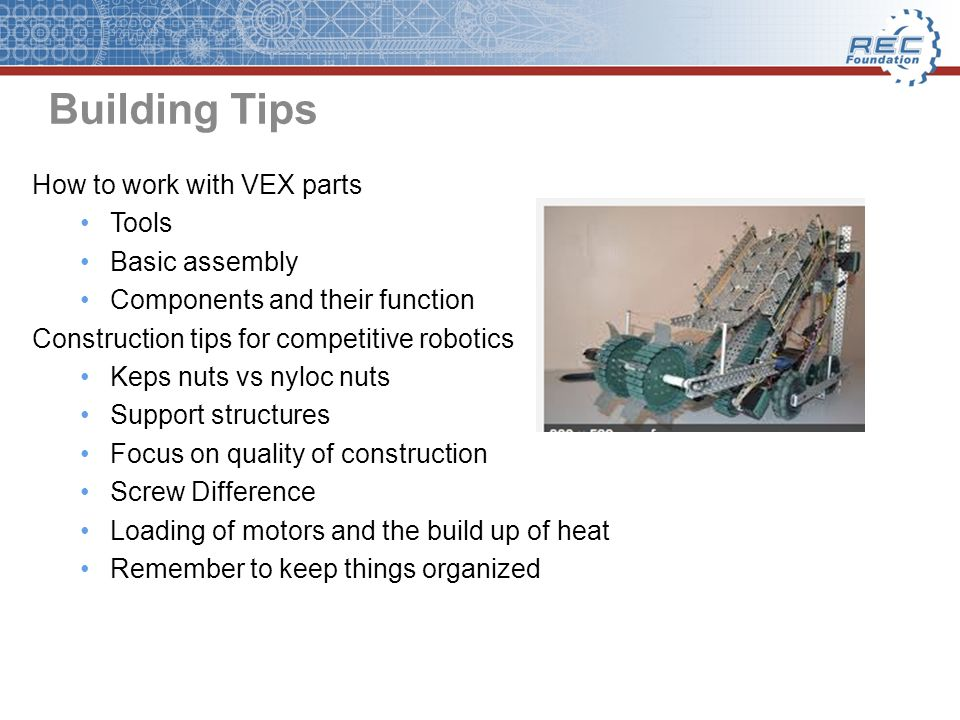 Developing CAD Autodesk Inventor # 1 Learning Interface http://www.youtube.com/watch?v=C-vSc79XsO8 # 2 Mate and Flush Constraints http://www.youtube.com/watch?v=t5O8JMMQmK0&feature=r elmfuhttp://www.youtube.com/watch?v=t5O8JMMQmK0&feature=r elmfu # 3 Tangent Constraints http://www.youtube.com/watch?v=Cnugr7qLOcc&feature=rel mfuhttp://www.youtube.com/watch?v=Cnugr7qLOcc&feature=rel mfu #4 How to Rotate Gears Wheels and Sprockets http://www.youtube.com/watch?v=bLKPI212rfc&feature=relm fuhttp://www.youtube.com/watch?v=bLKPI212rfc&feature=relm fu #5 How to Rotate an Arm http://www.youtube.com/watch?v=c3- lfvn7Fuc&feature=relmfuhttp://www.youtube.com/watch?v=c3- lfvn7Fuc&feature=relmfu #6 How to Cut Parts http://www.youtube.com/watch?v=pyM8UYEmAg8&feature=r elmfuhttp://www.youtube.com/watch?v=pyM8UYEmAg8&feature=r elmfu Inventor Tutorial: http://www.youtube.com/watch?v=_aFv4H2n_PQ&feature=re latedhttp://www.youtube.com/watch?v=_aFv4H2n_PQ&feature=re lated Simulation Guide Demonstration http://www.youtube.com/watch?v=mChsz8esv_E&feature=fv wrelhttp://www.youtube.com/watch?v=mChsz8esv_E&feature=fv wrel VEX CAD Files: http://www.vexforum.com/wiki/index.php/VEXCAD VEX Autodesk Education Community http://students.autodesk.com/?nd=vex&tagent=VEX-2012- LA-4-13-2012http://students.autodesk.com/?nd=vex&tagent=VEX-2012- LA-4-13-2012 Student Spotlight on VEX and Morgan Montalvo http://www.youtube.com/watch?v=xlI- PYvGwlM&feature=player_embeddedhttp://www.youtube.com/watch?v=xlI- PYvGwlM&feature=player_embedded