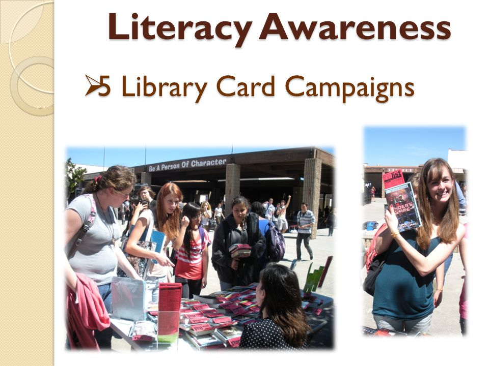 5 Library Card Campaigns 5 Library Card Campaigns Literacy Awareness Literacy Awareness