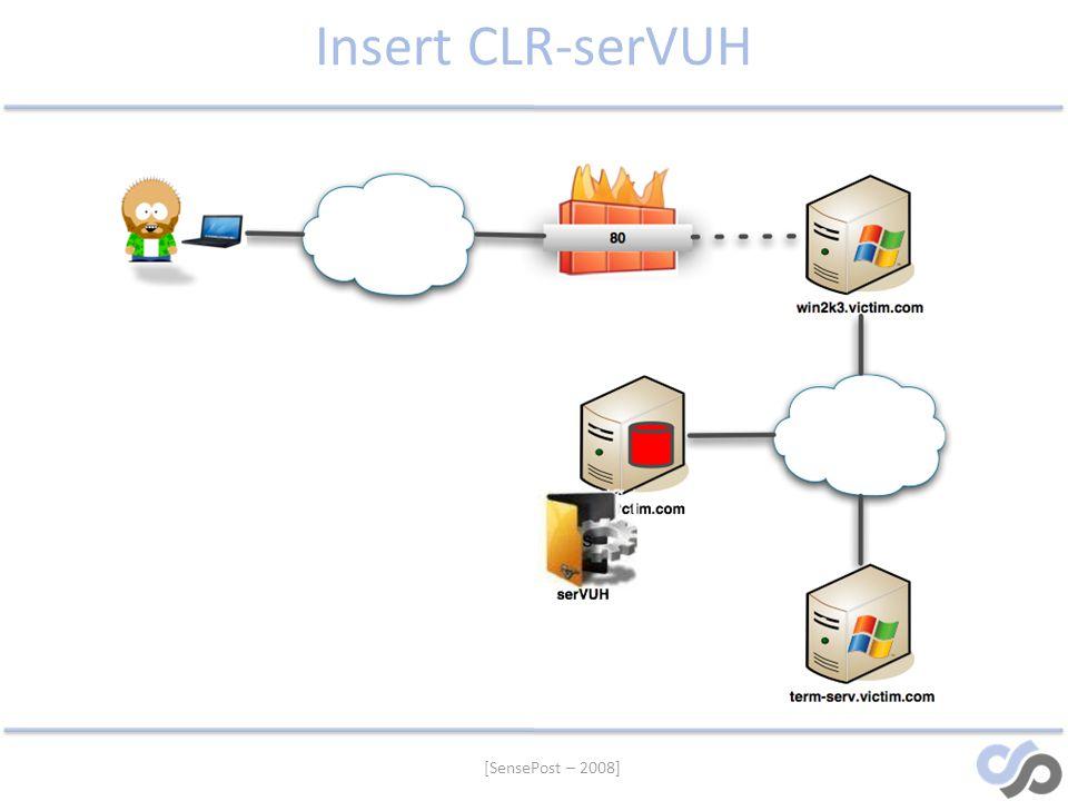 [SensePost – 2008] Insert CLR-serVUH