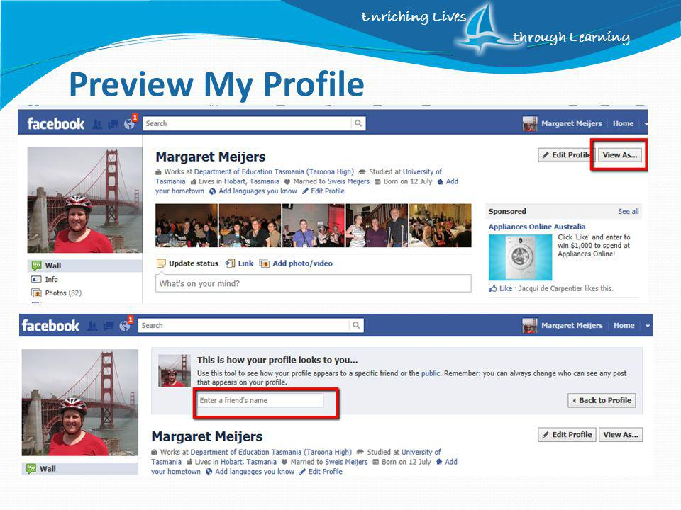 Enriching Lives through Learning Preview My Profile