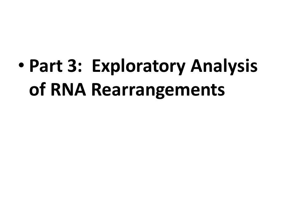 Part 3: Exploratory Analysis of RNA Rearrangements