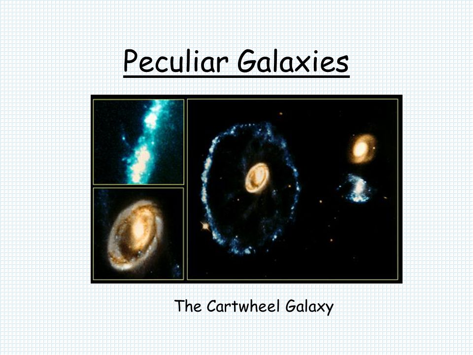 Peculiar Galaxies The Cartwheel Galaxy