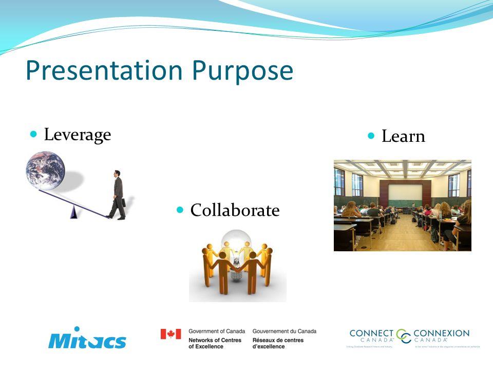 Presentation Purpose Leverage Collaborate Learn