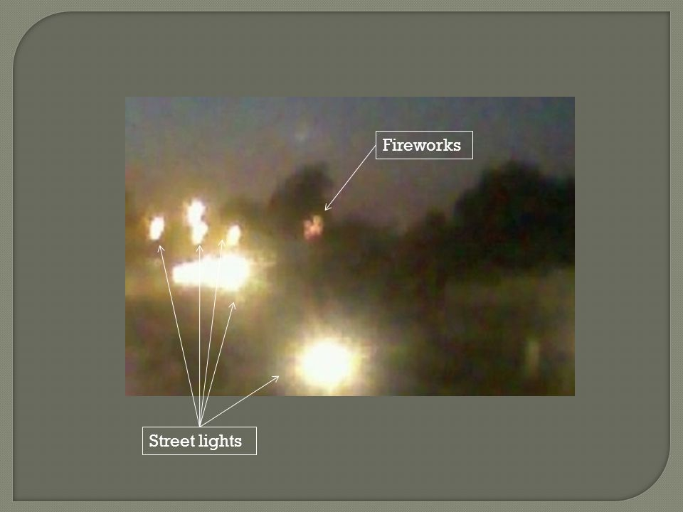 Street lights Fireworks