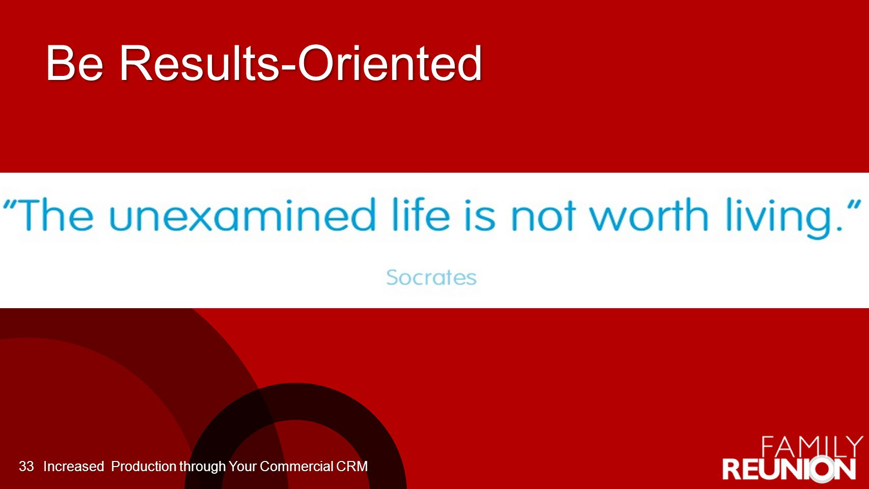 Be Results-Oriented Increased Production through Your Commercial CRM33