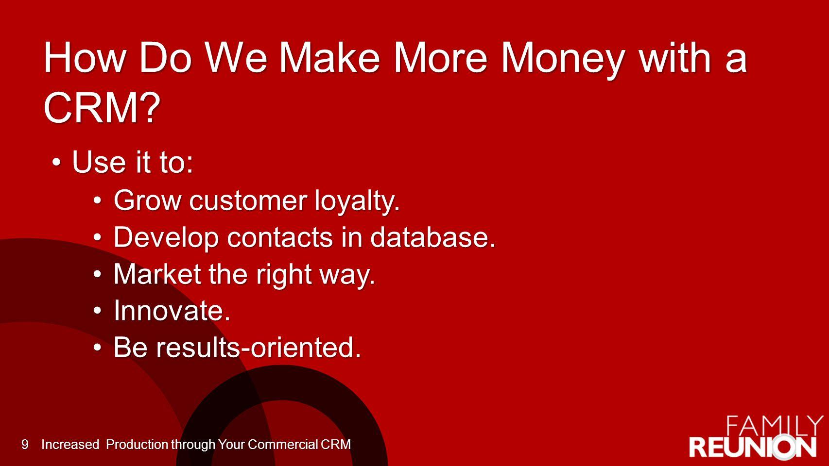 How Do We Make More Money with a CRM.