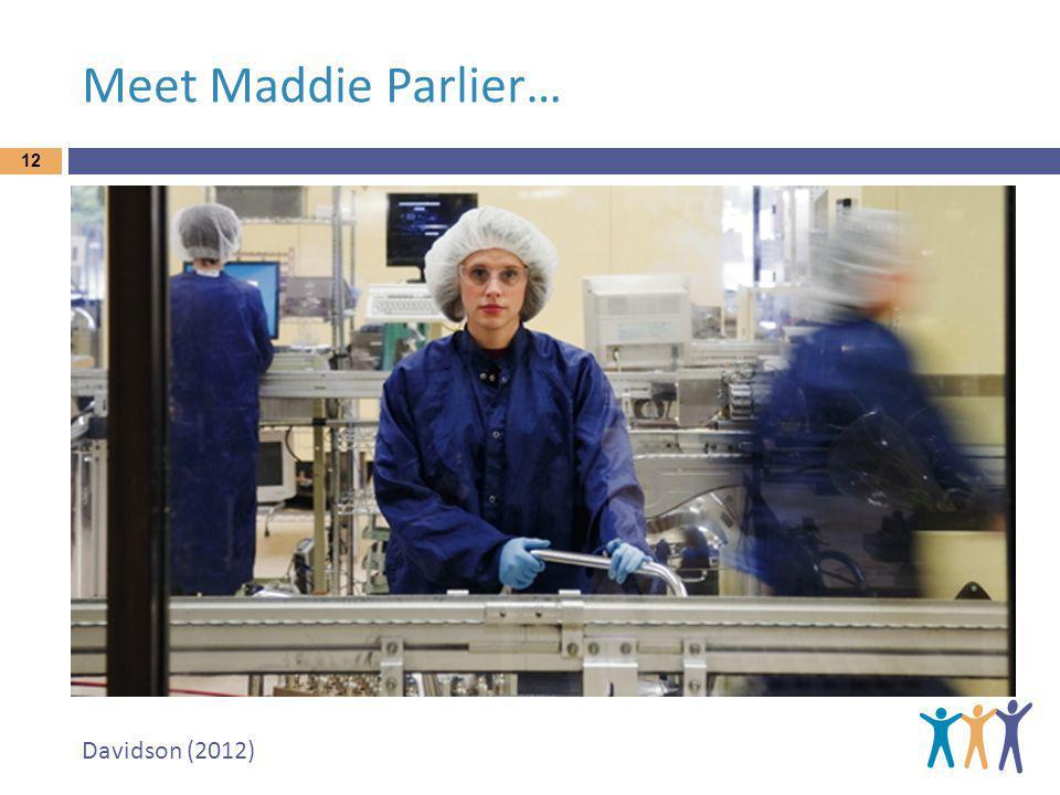 Meet Maddie Parlier… 12 Davidson (2012)