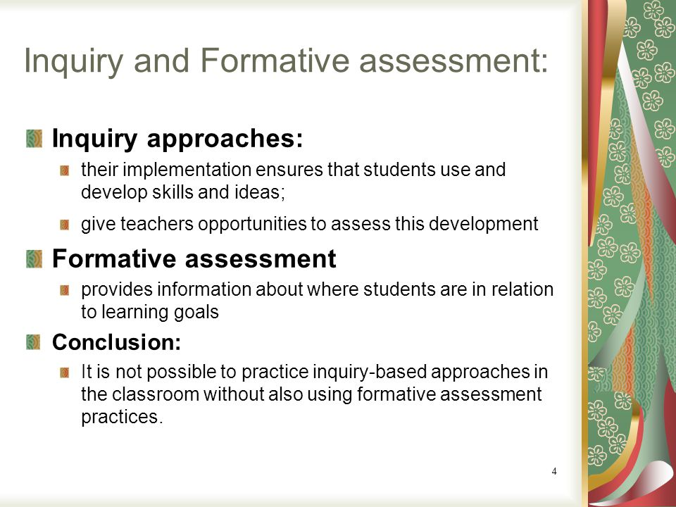 Why formative assessment.
