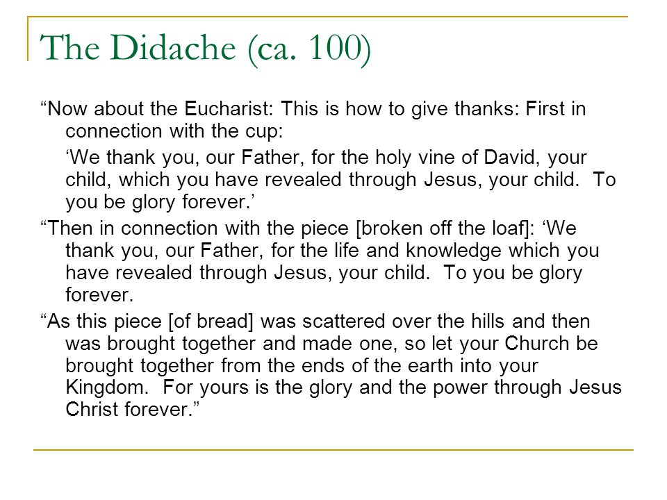 The Didache (ca.