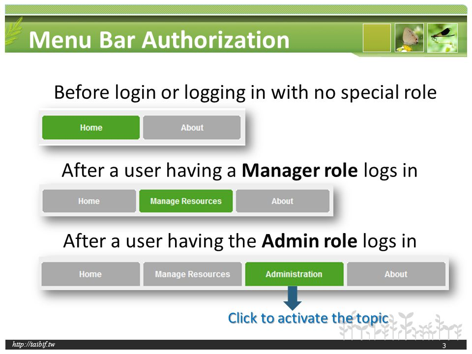 http://taibif.tw 14 After Creating a New Folder – The Resource Overview Page