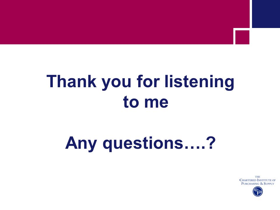 Thank you for listening to me Any questions….?