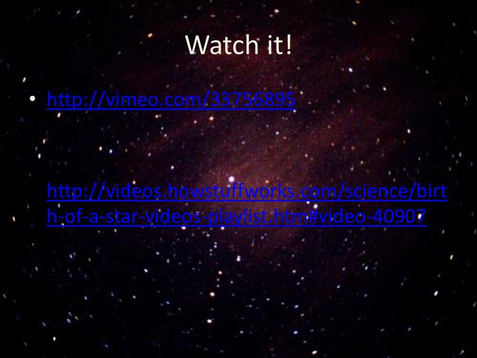 Watch it! http://vimeo.com/33756895 http://videos.howstuffworks.com/science/birt h-of-a-star-videos-playlist.htm#video-40907 http://videos.howstuffwor
