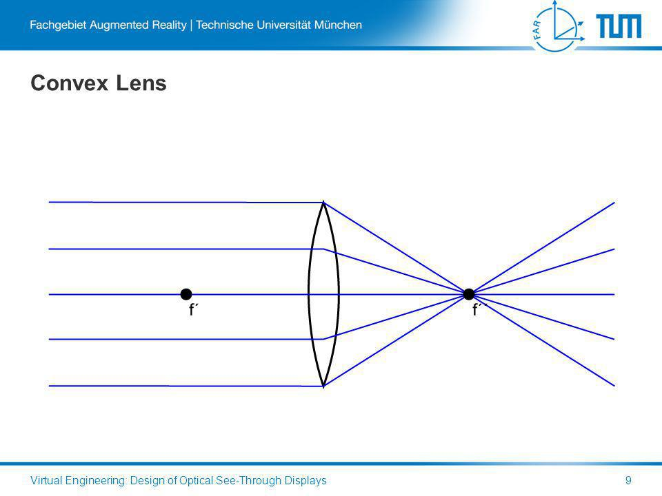 Convex Lens Virtual Engineering: Design of Optical See-Through Displays9