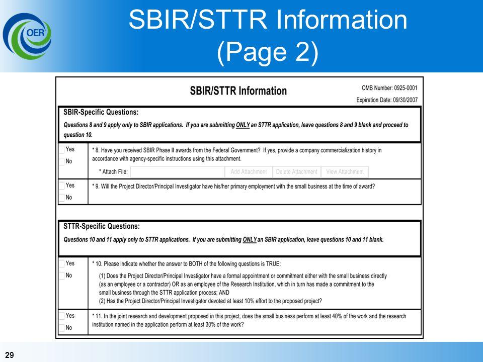 29 SBIR/STTR Information (Page 2)