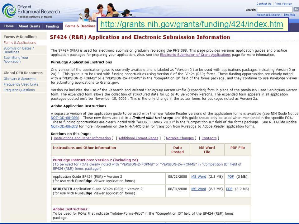 51 http://grants.nih.gov/grants/funding/424/index.htm