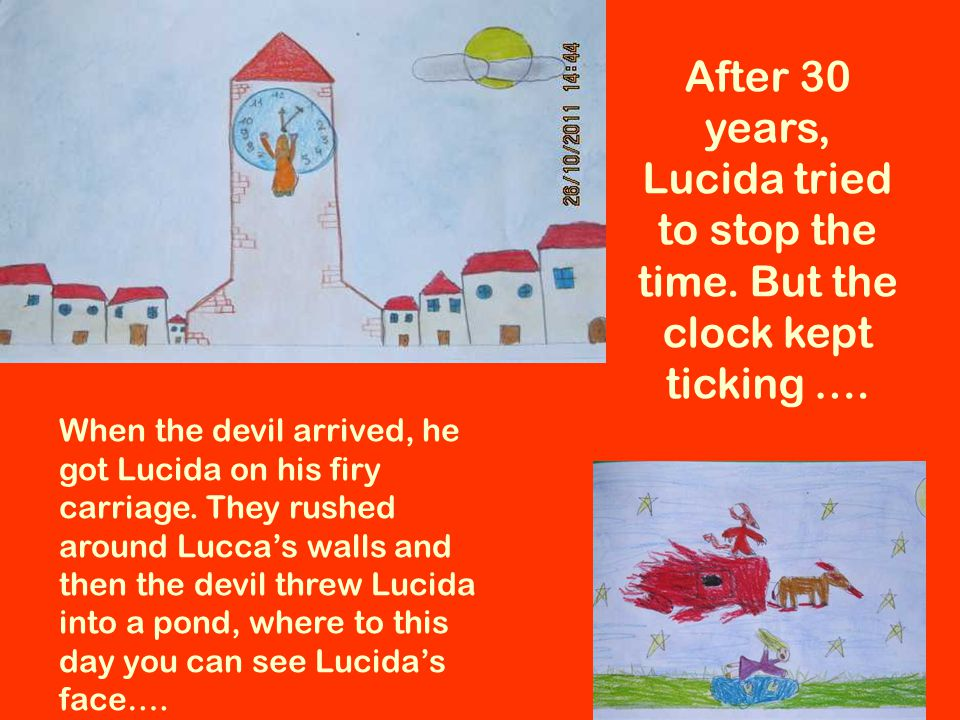 After 30 years, Lucida tried to stop the time. But the clock kept ticking ….