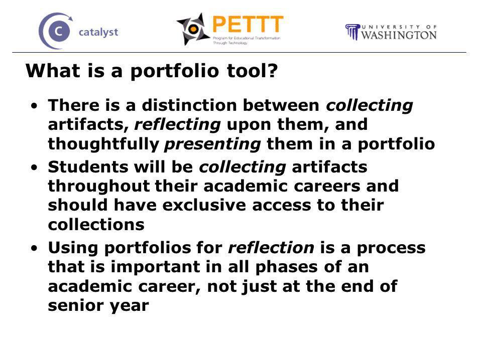 What is a portfolio tool.