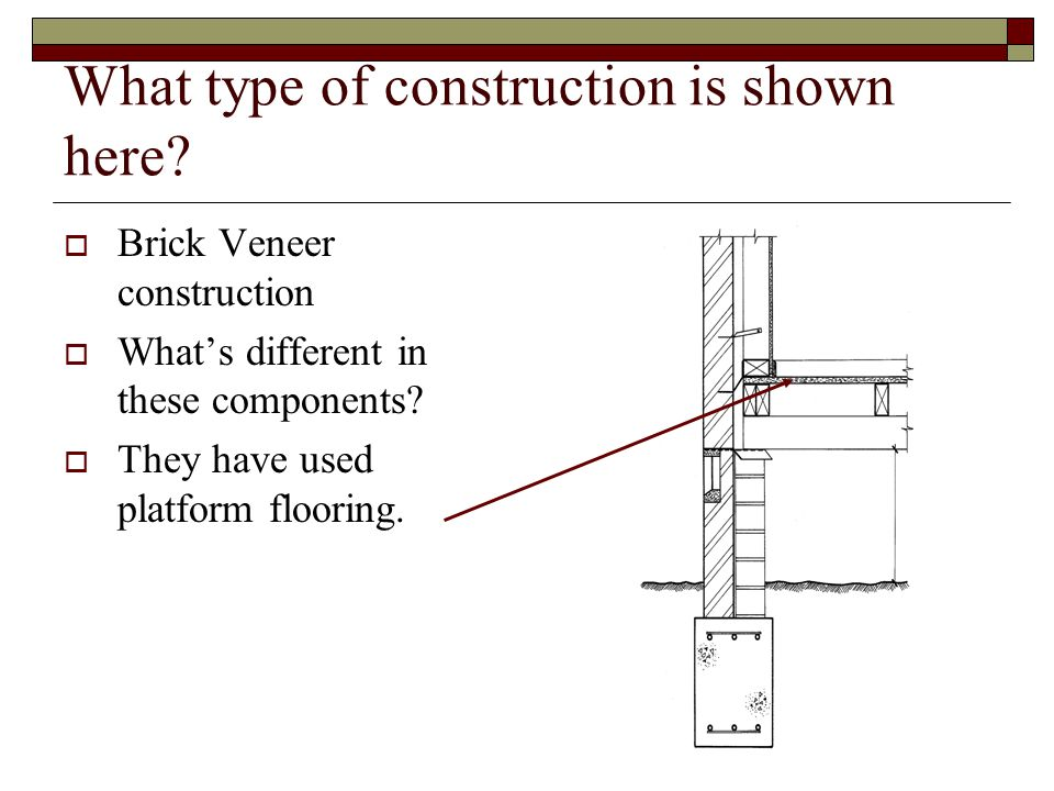 What type of construction is shown here.