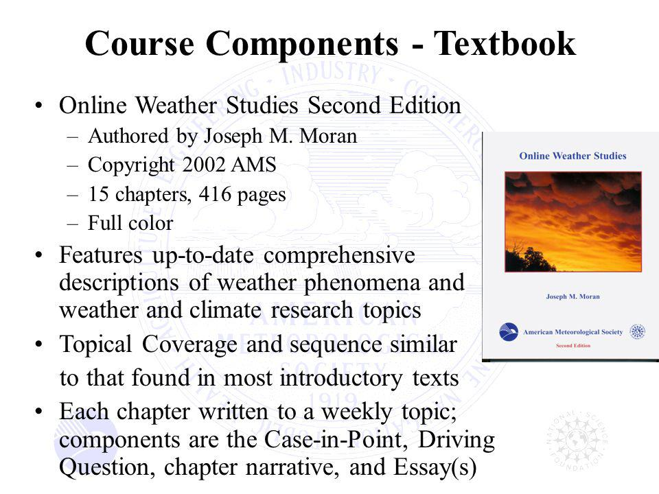 Online Weather Studies Second Edition –Authored by Joseph M.