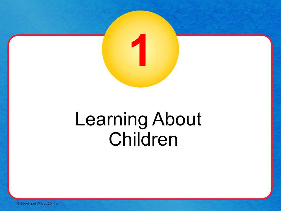 1 Learning About Children