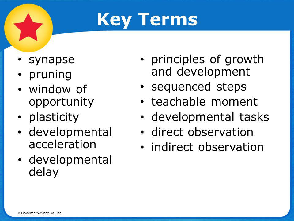 © Goodheart-Willcox Co., Inc. Objective Describe three factors that promote growth and development.