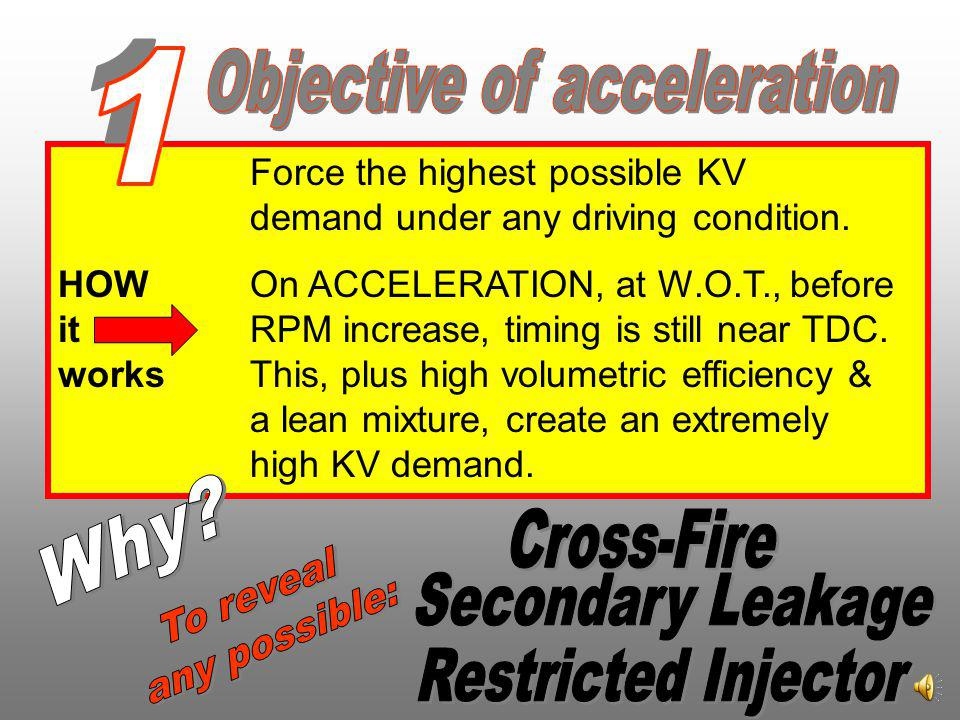 What is the SNAP-TEST? A sudden acceleration & deceleration. Ideal objective: When 2000 RPM is reached simultaneously with less than 4 inches vacuum.