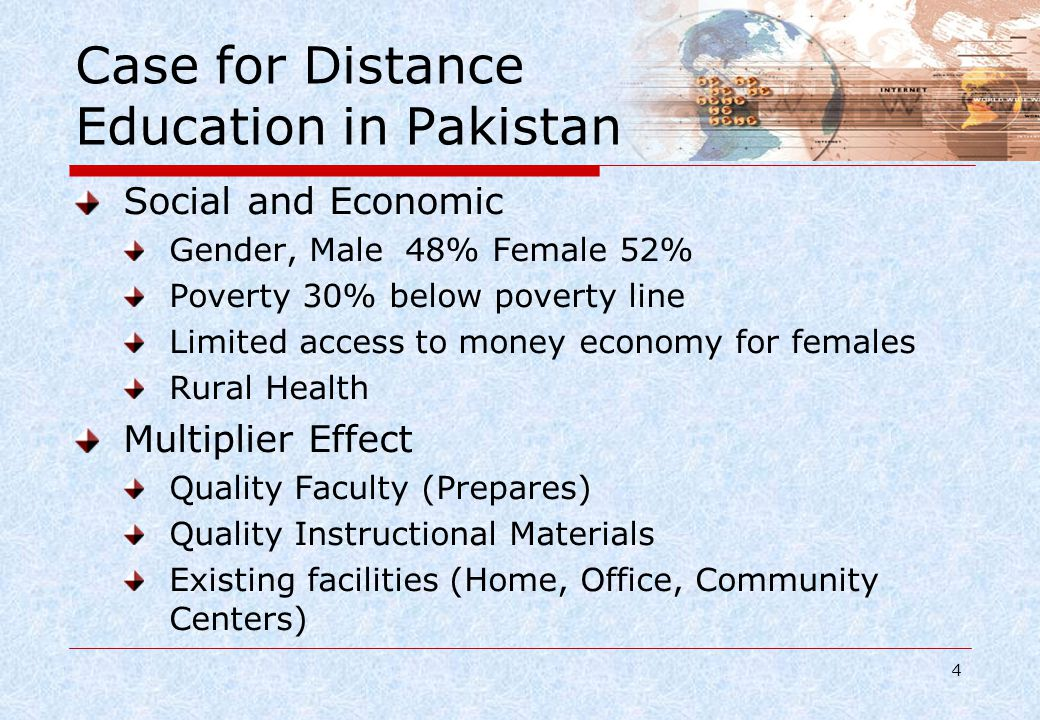 Key Challenges in Higher Education Quality Standard of Education, Faculty & Research Access Enrollment in higher education Relevance Addressing the needs for Socio- Economic Development of Pakistan Financing Reforms