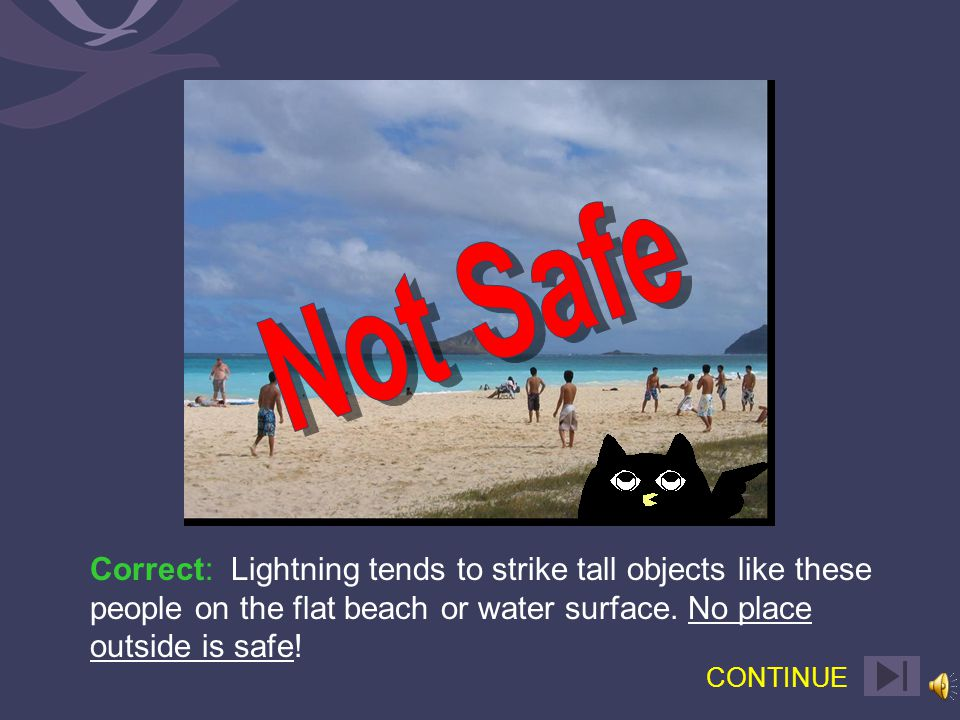 or Not Safe Not Safe (Select one)