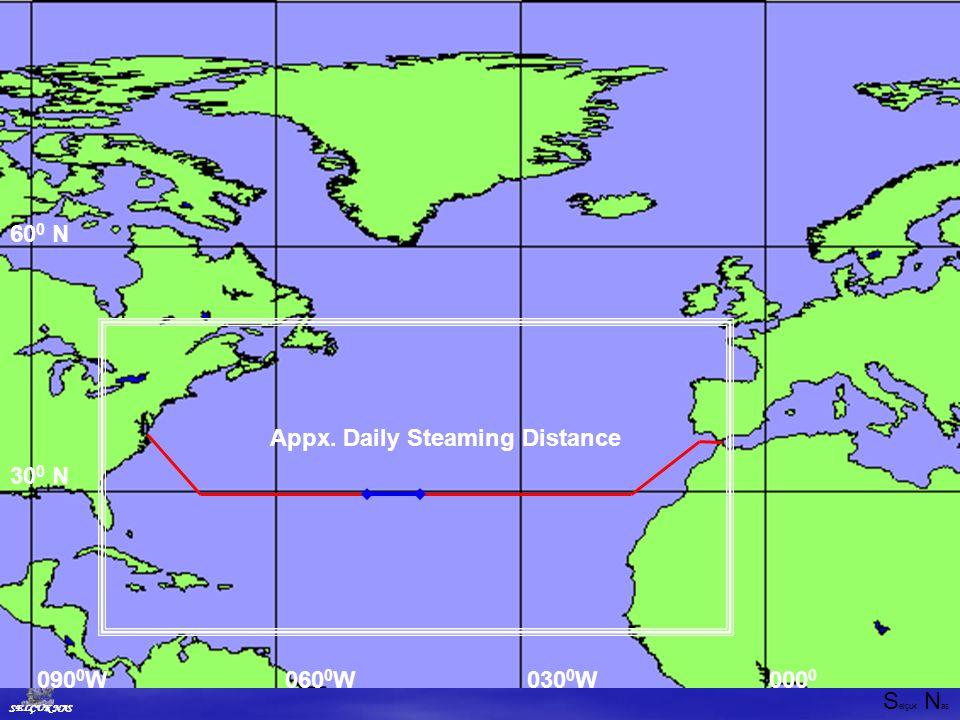 S elçuk N as SELÇUK NAS 30 0 N 60 0 N 000 0 030 0 W060 0 W090 0 W Appx. Daily Steaming Distance