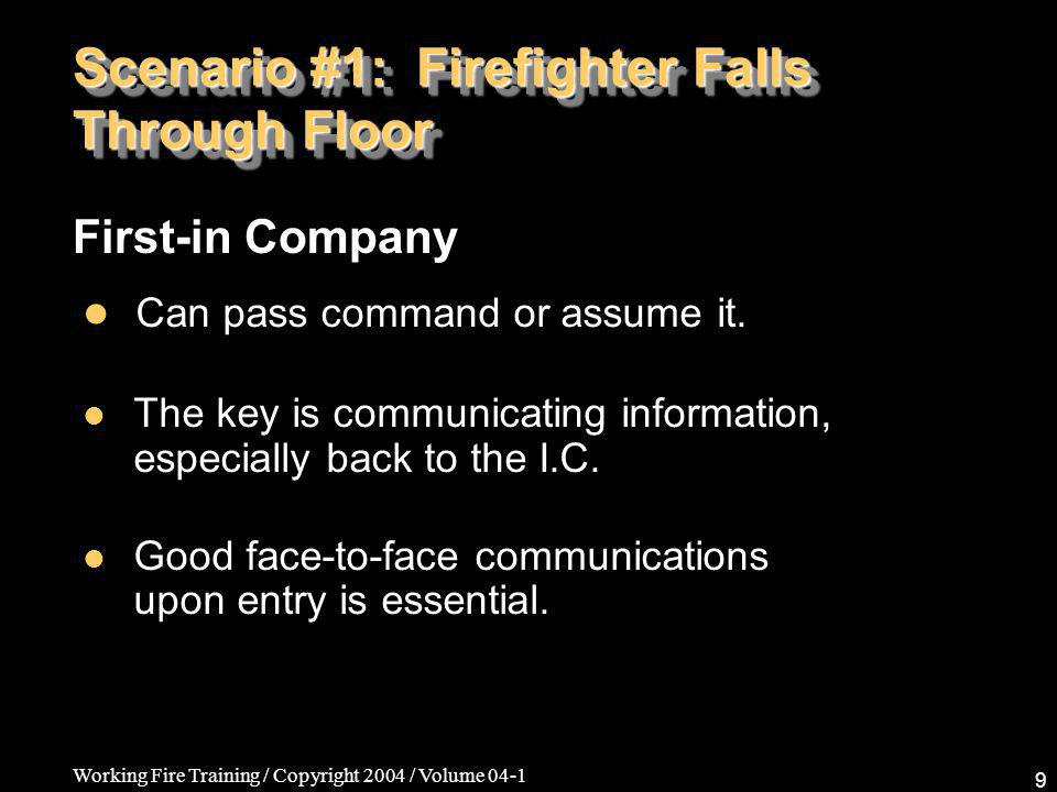 Working Fire Training / Copyright 2004 / Volume 04-1 30 Firefighter Safety/ R.I.T.