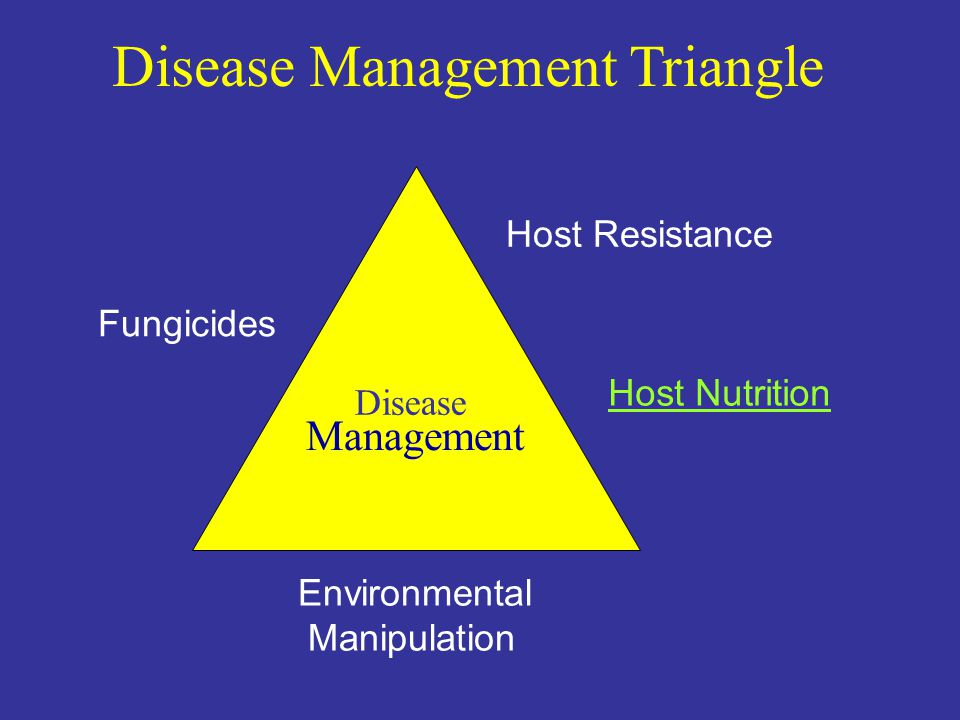 Fungicides Host Resistance Environmental Manipulation Disease Management Host Nutrition Disease Management Triangle