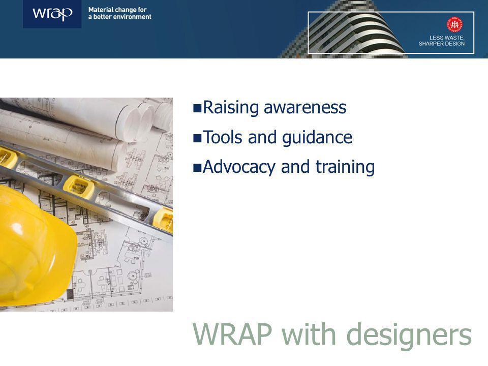 Raising awareness –Workshop events –RIBA design competition –Case studies –Marketing & PR WRAP with designers