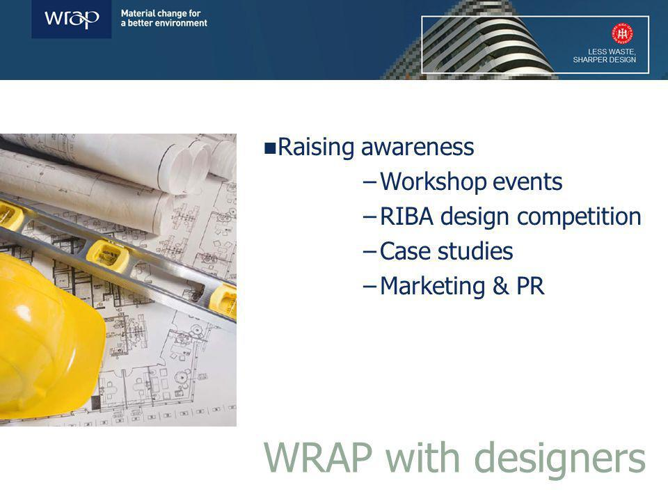 Raising awareness –Workshop events –RIBA design competition –Case studies –Marketing & PR WRAP with designers