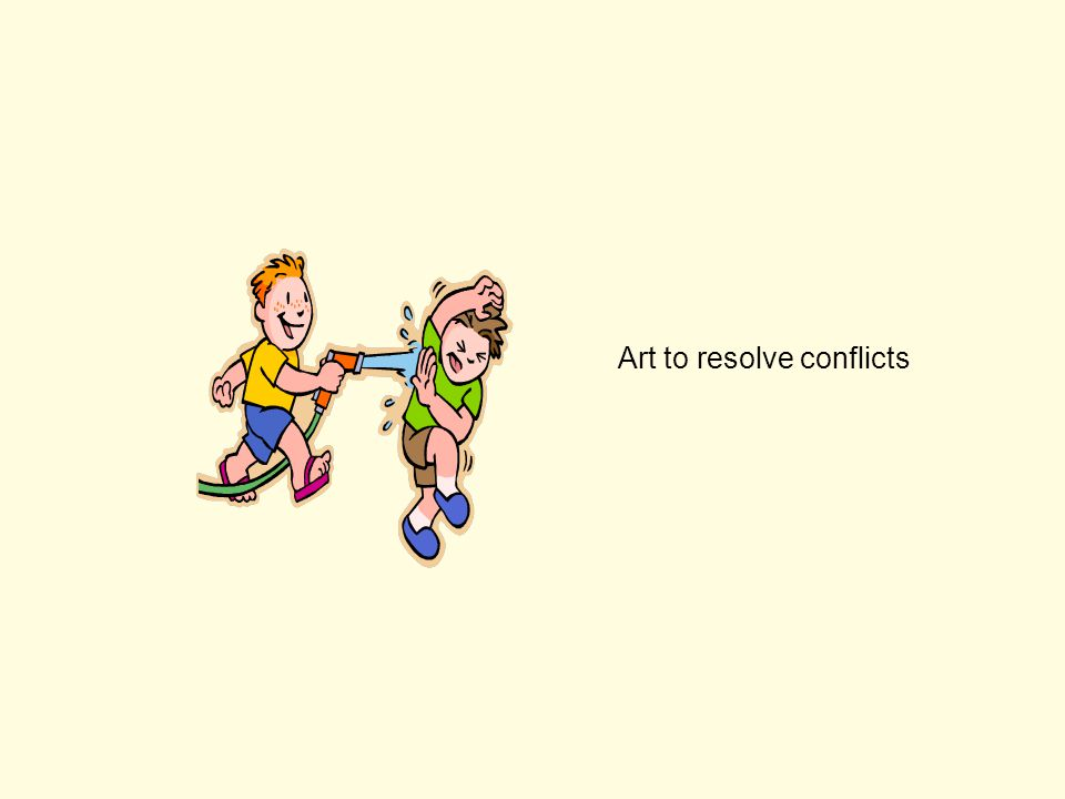 Art to resolve conflicts