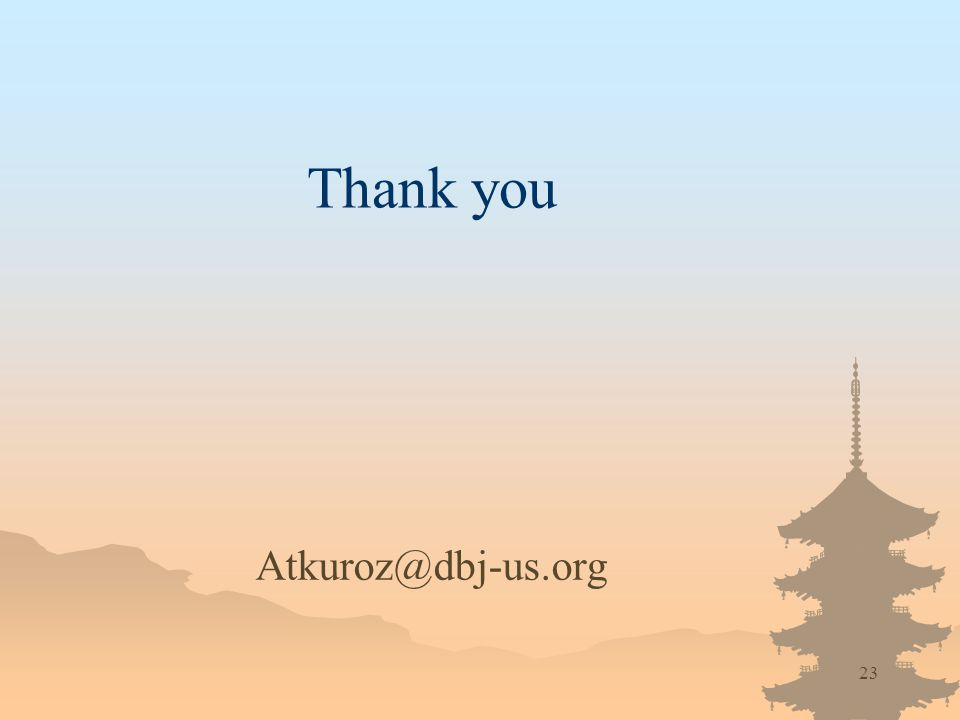 23 Thank you Atkuroz@dbj-us.org