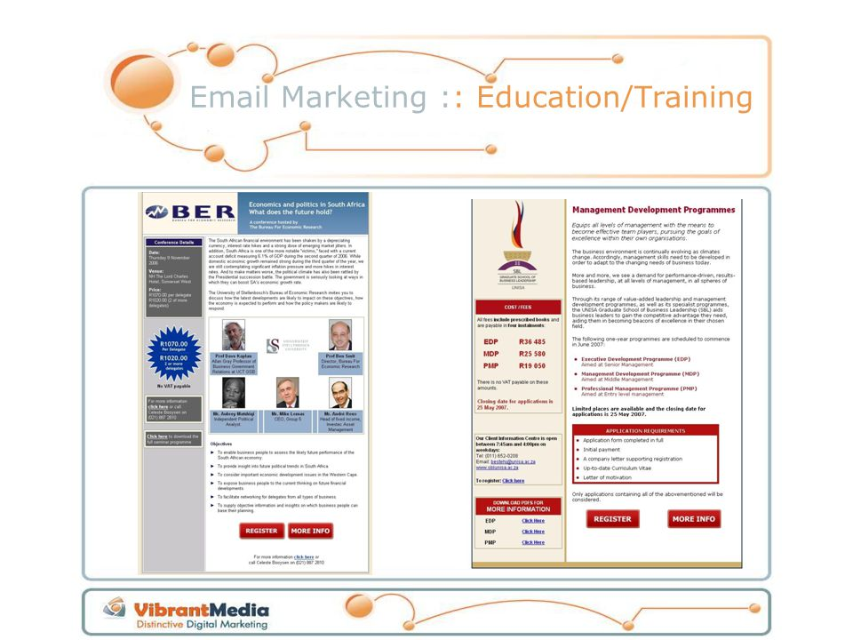 Email Marketing :: Education/Training